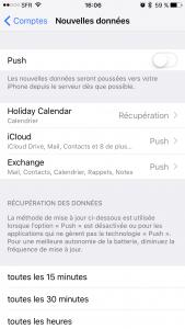 iPhone iOS économiser data