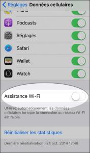 iPhone Sécurité données cellulaires