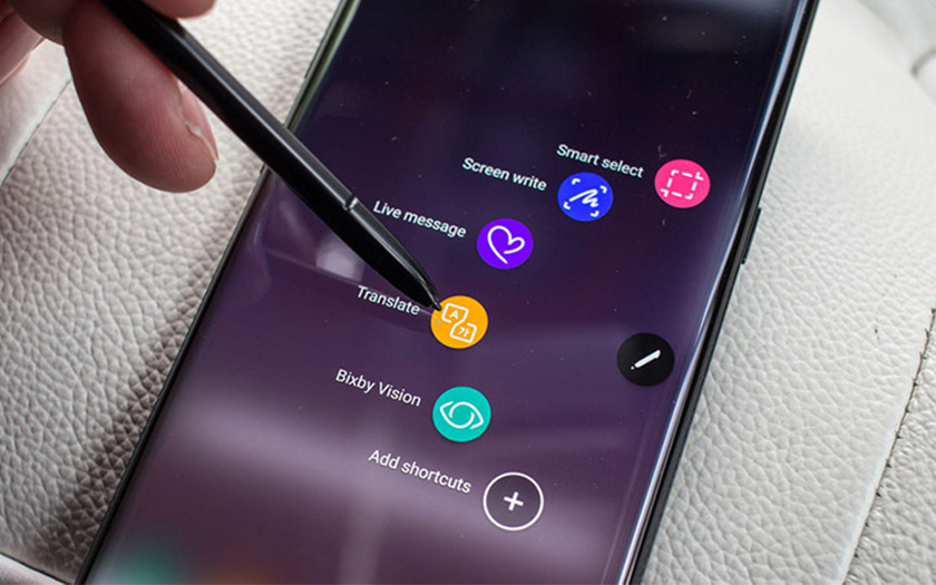 Galaxy Note 9 raccourcis